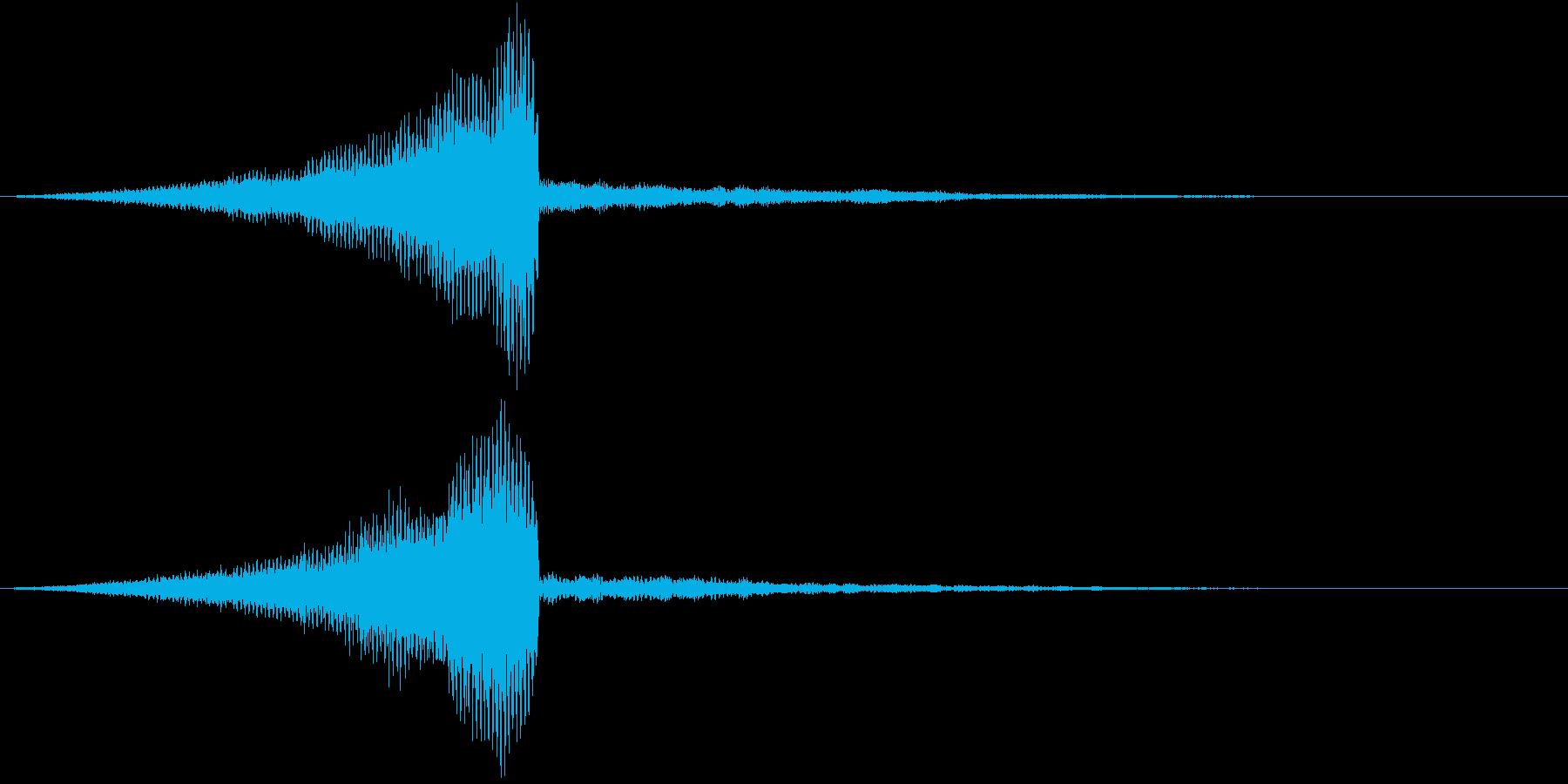 レーザーが迫ってくる音の再生済みの波形