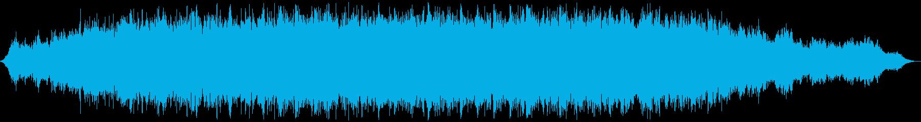 ゆったりとした爽やかなアンビエント曲の再生済みの波形