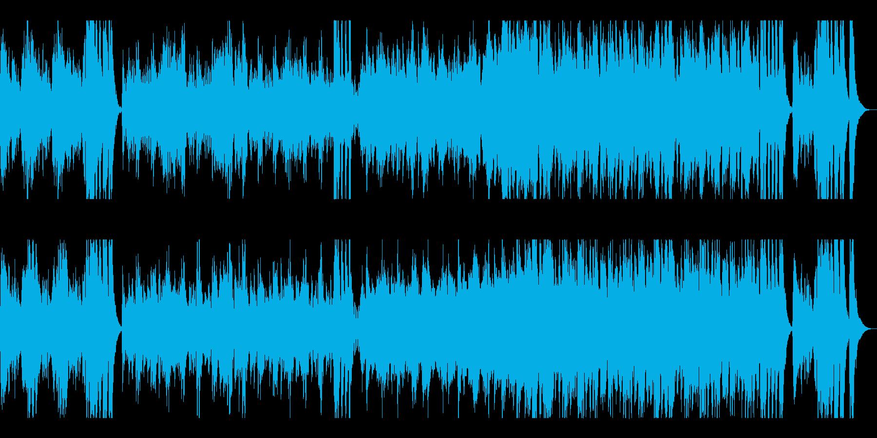 緩やかで穏やかなオーケストラサウンドの再生済みの波形