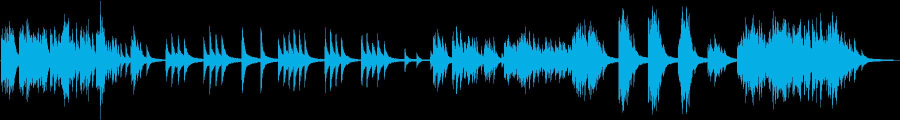哀愁あるピアノ曲の再生済みの波形