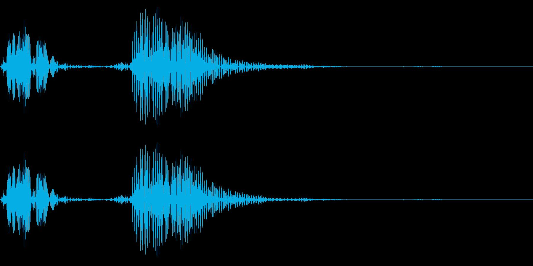 ピピッ(アプリ決定音やチャットの送信音)の再生済みの波形