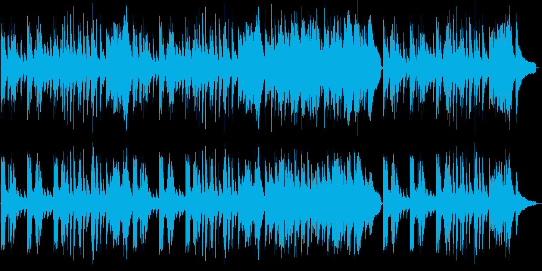 美しい和風ピアノバラードの再生済みの波形