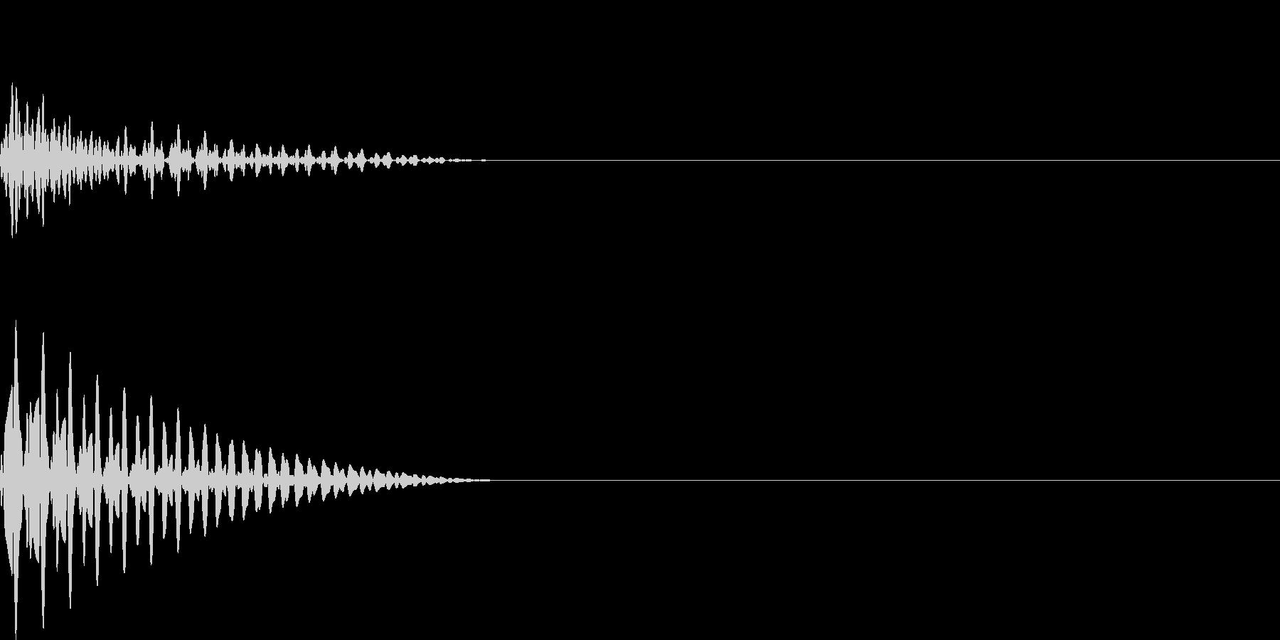 ドン(click_ボタンシンプル)の未再生の波形