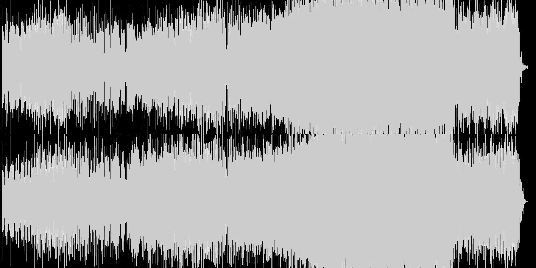 SFをイメージした電子的なシンセの曲の未再生の波形