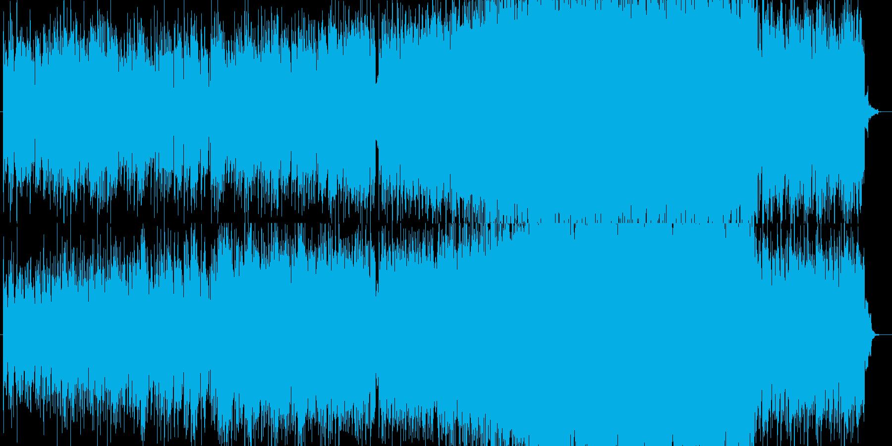 SFをイメージした電子的なシンセの曲の再生済みの波形