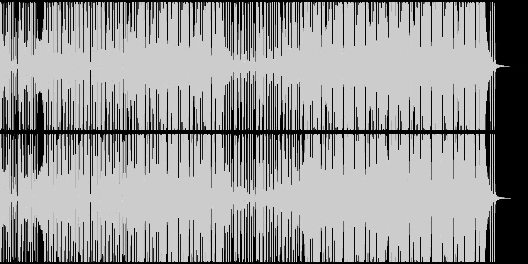 ポップでノリの良いシンセファンクEDMの未再生の波形