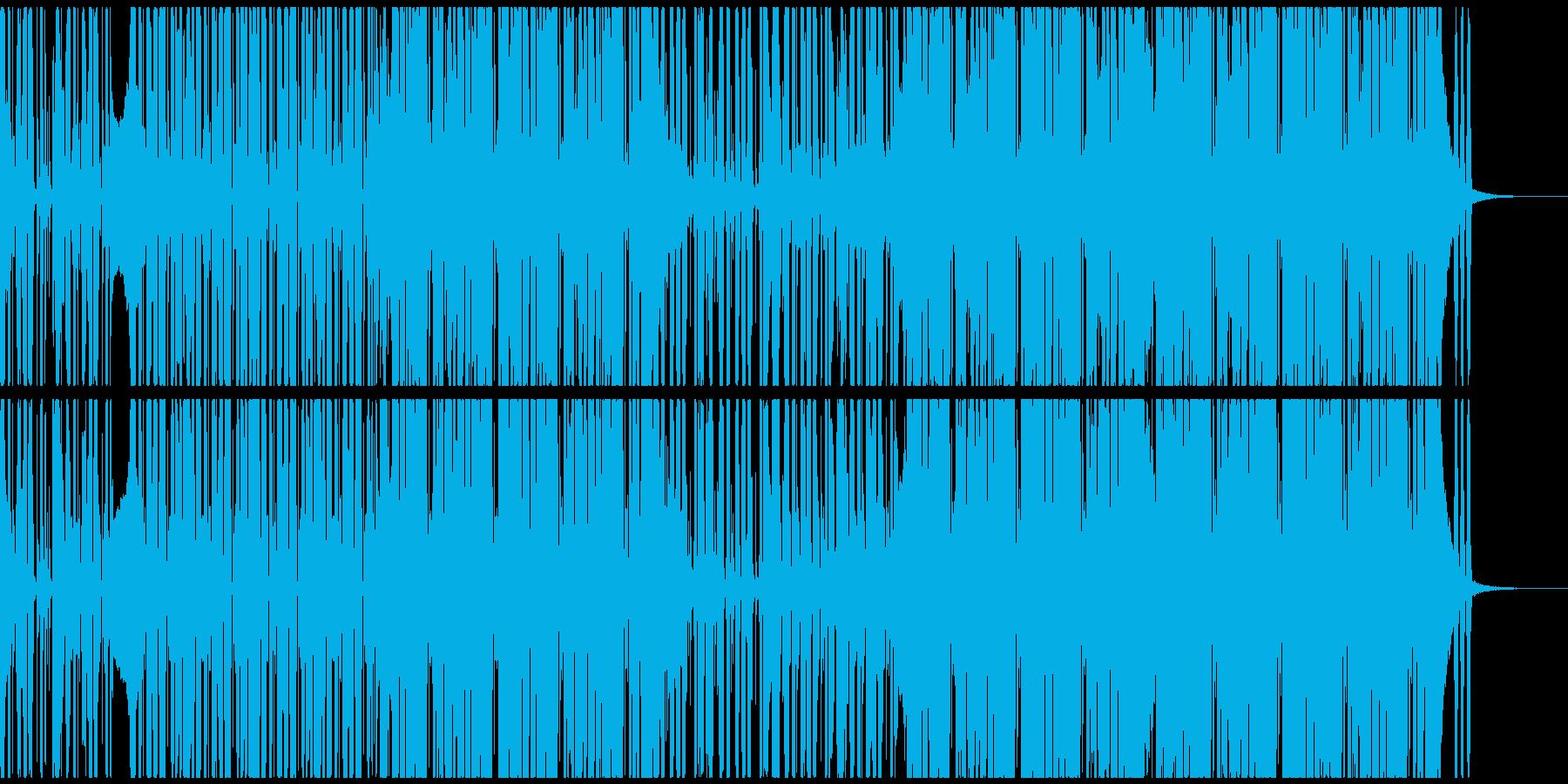 ポップでノリの良いシンセファンクEDMの再生済みの波形