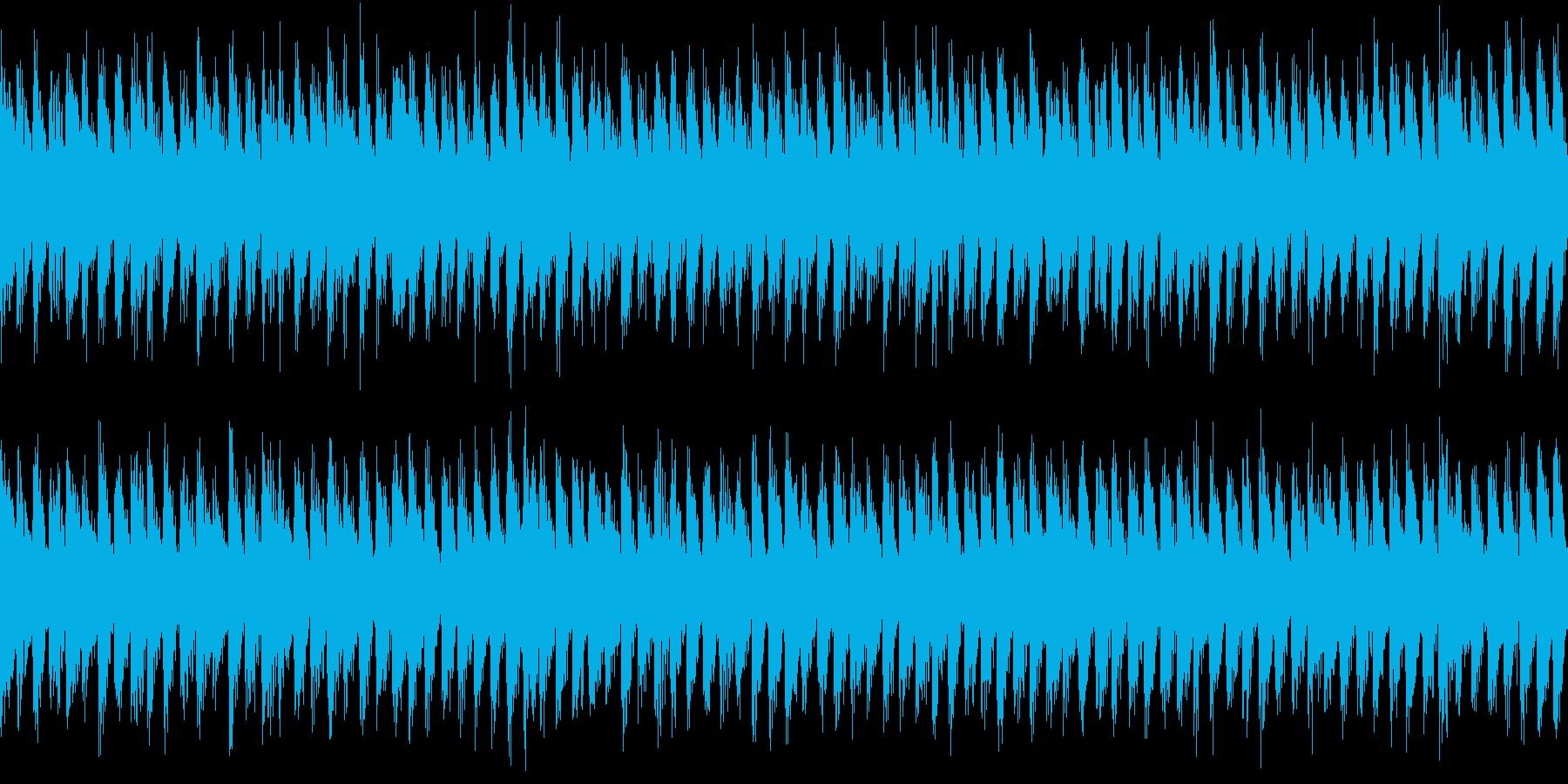古めかしいビート感のあるダンスループ曲の再生済みの波形