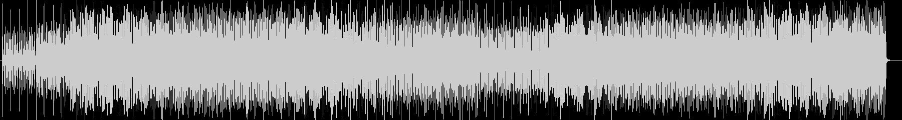 ファンキーなシンセサイザーサウンドの未再生の波形
