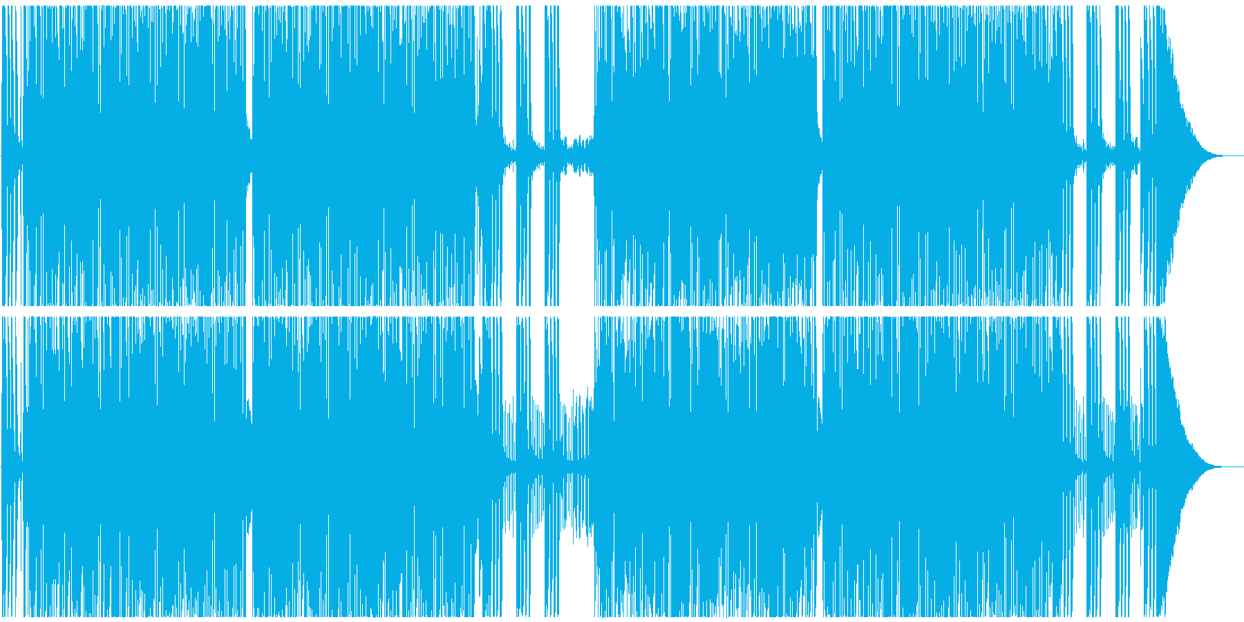 騒がしいロックンロール メロなしの再生済みの波形