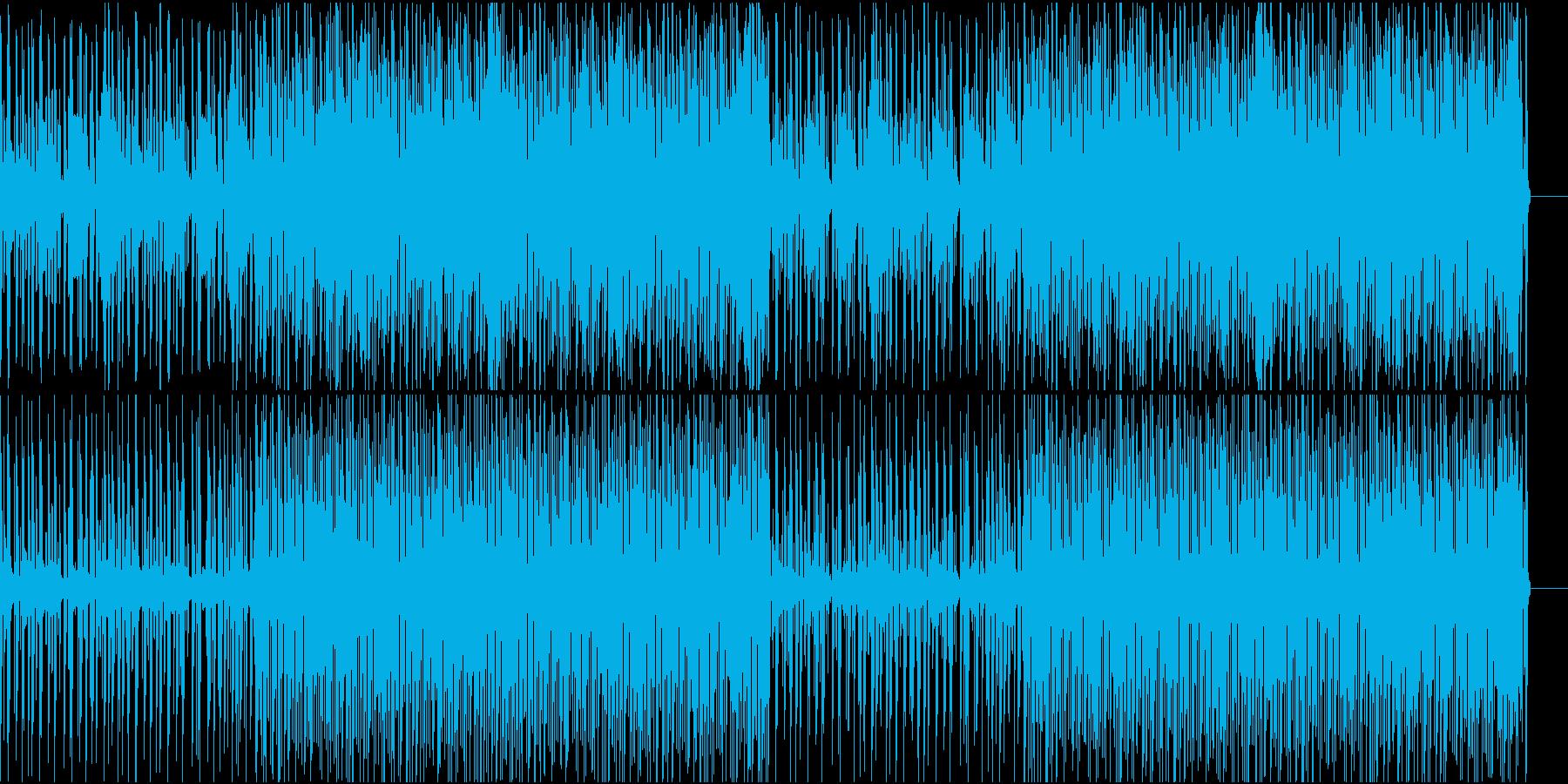 やらかな印象の電子音のテクノの再生済みの波形
