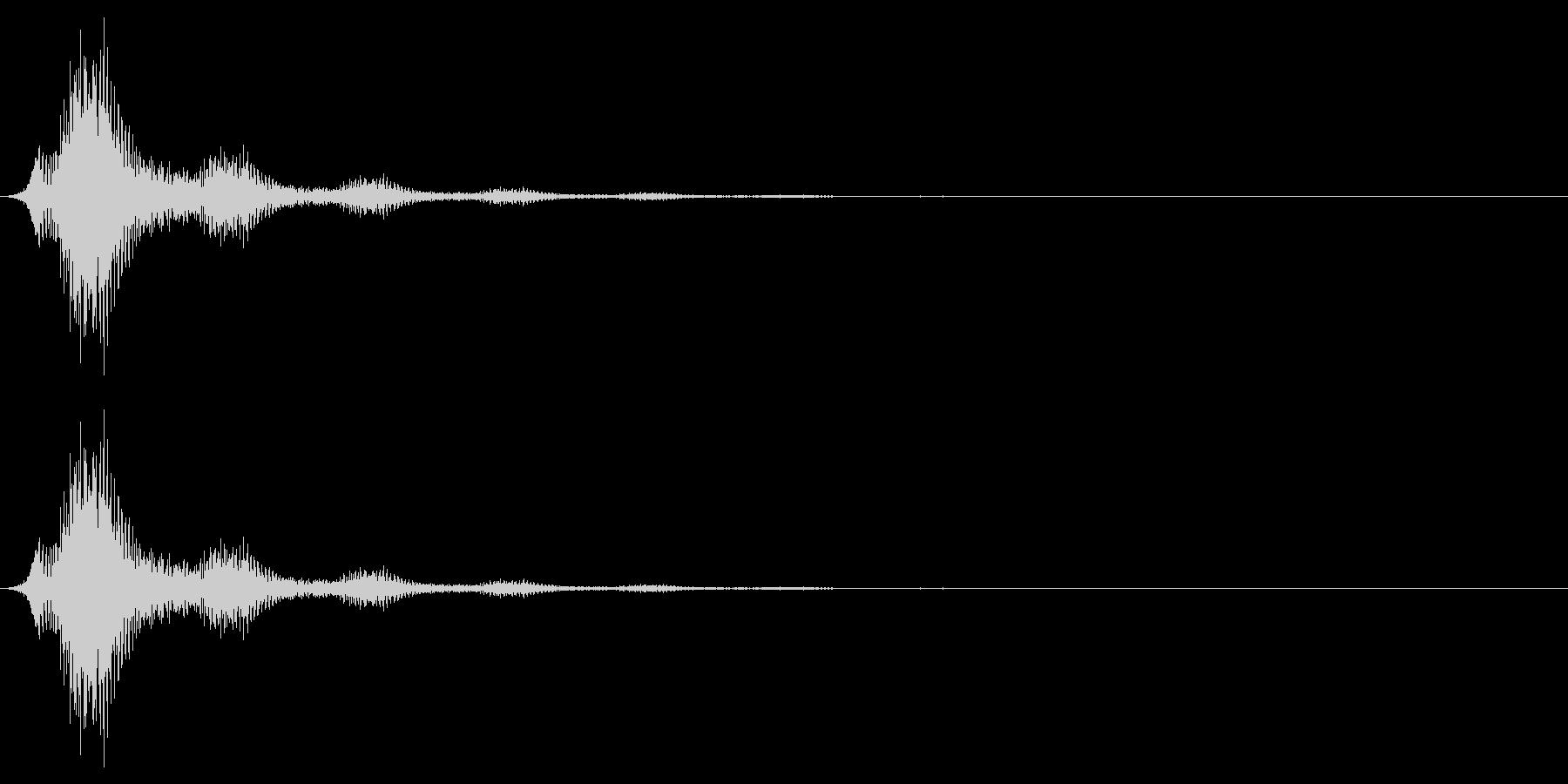 バイオリンで作ったボタン音の未再生の波形