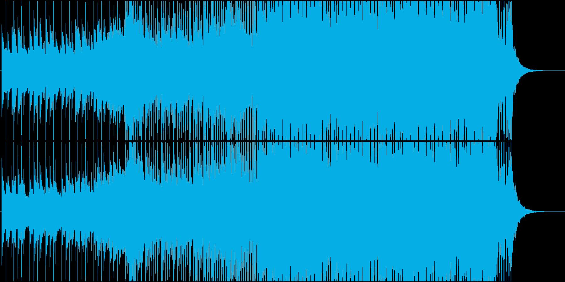 EDMスタイルのトロピカルハウスの再生済みの波形