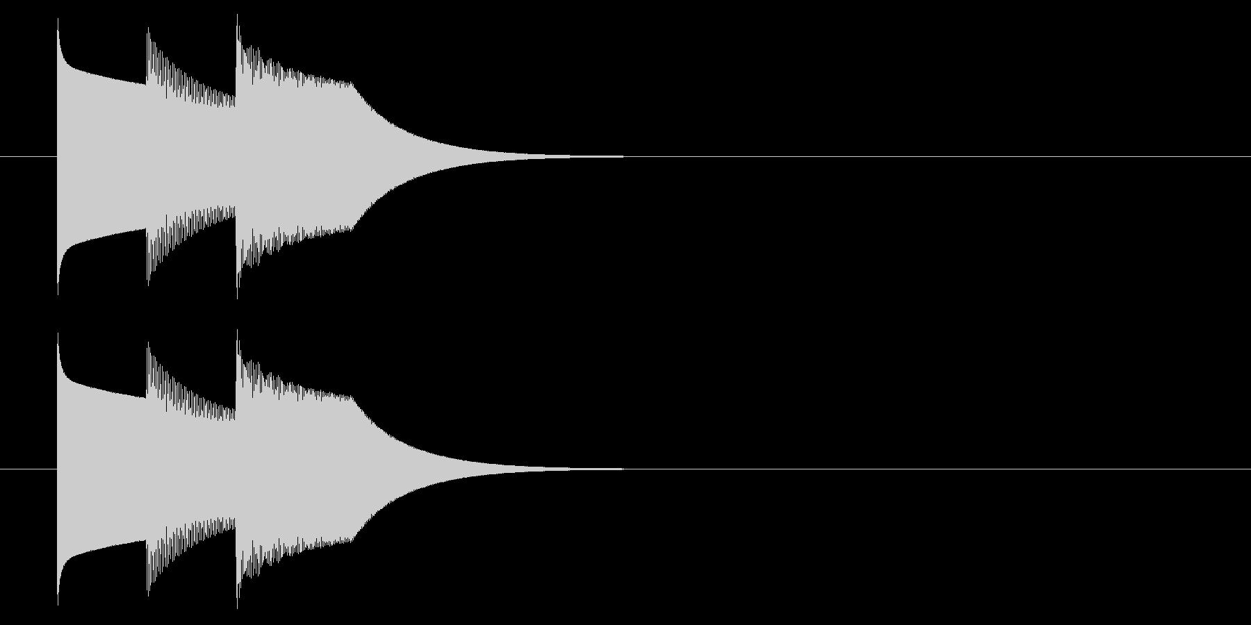 シンプルな正解音(テレレン)の未再生の波形