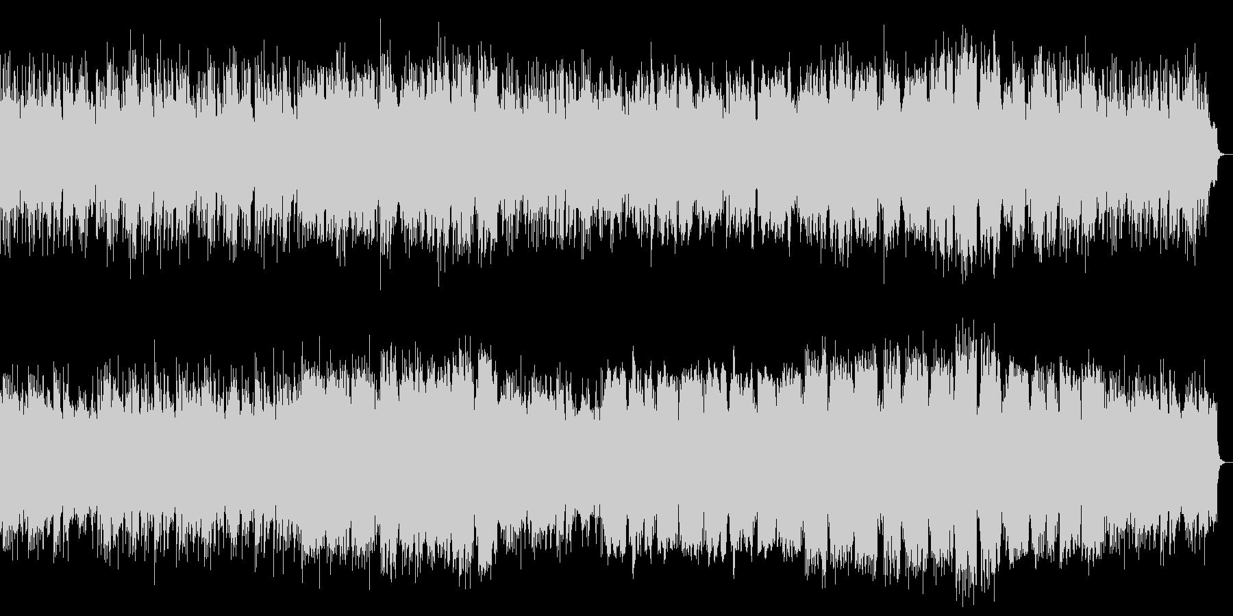 ピアノ、管楽器によるレトロ風ポップスの未再生の波形