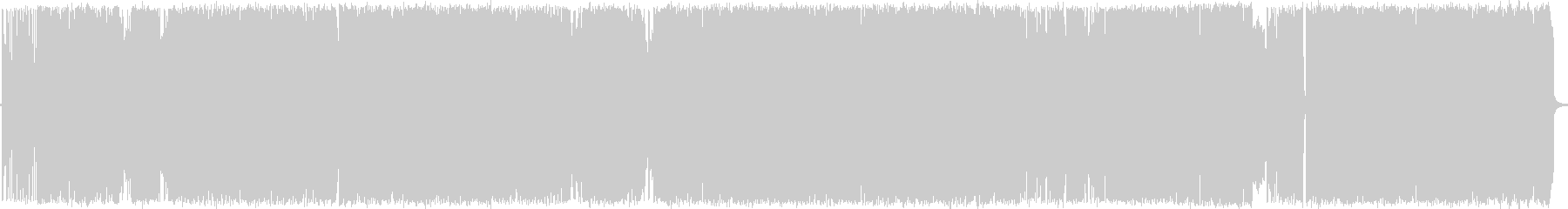 スポーツ番組ニュースロックインスト曲の未再生の波形