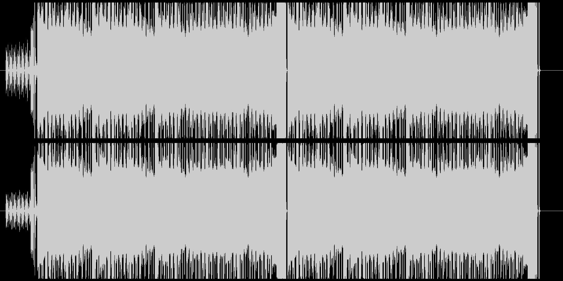 怪しい雰囲気の4ビートチップチューンの未再生の波形