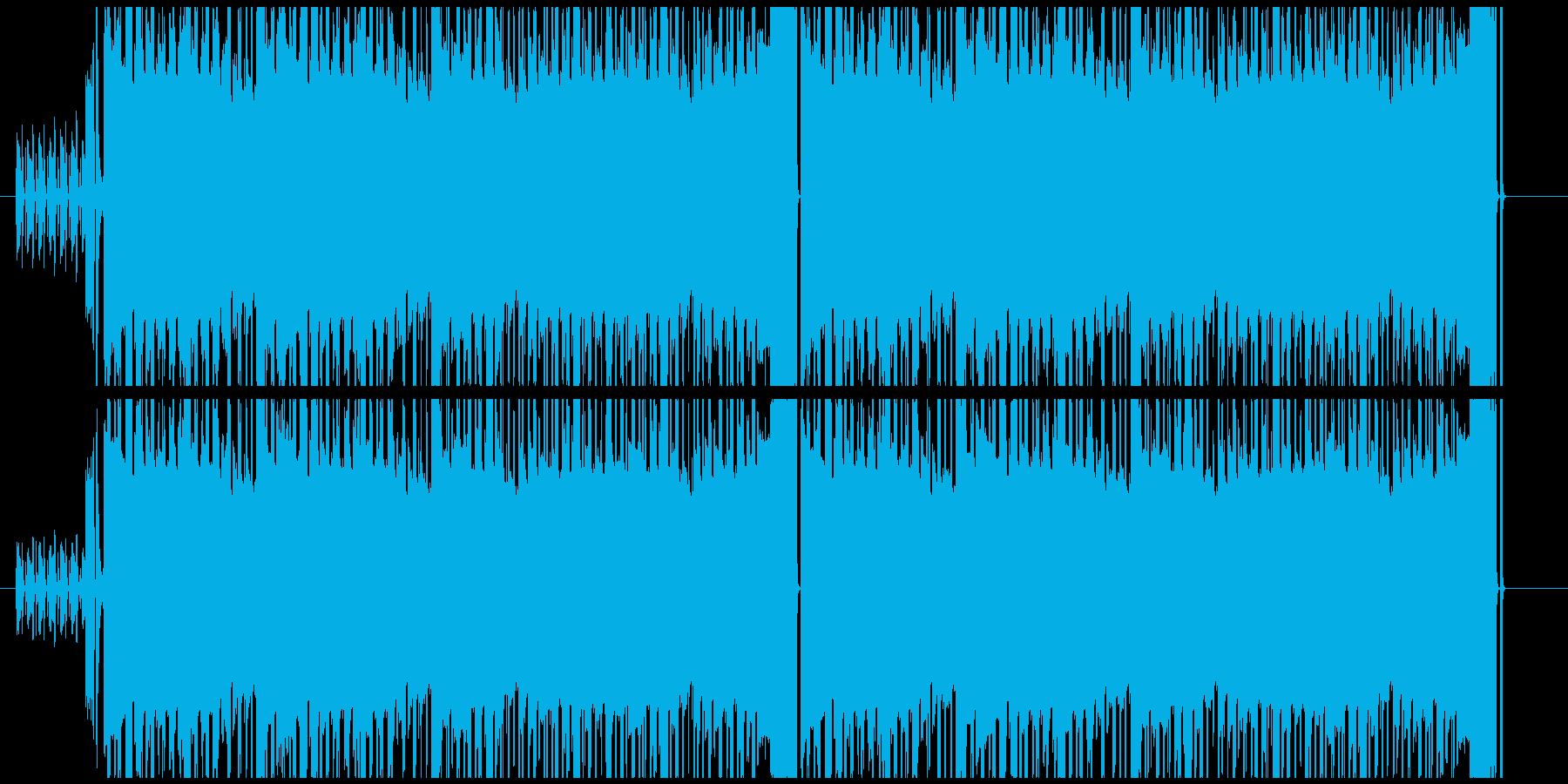 怪しい雰囲気の4ビートチップチューンの再生済みの波形