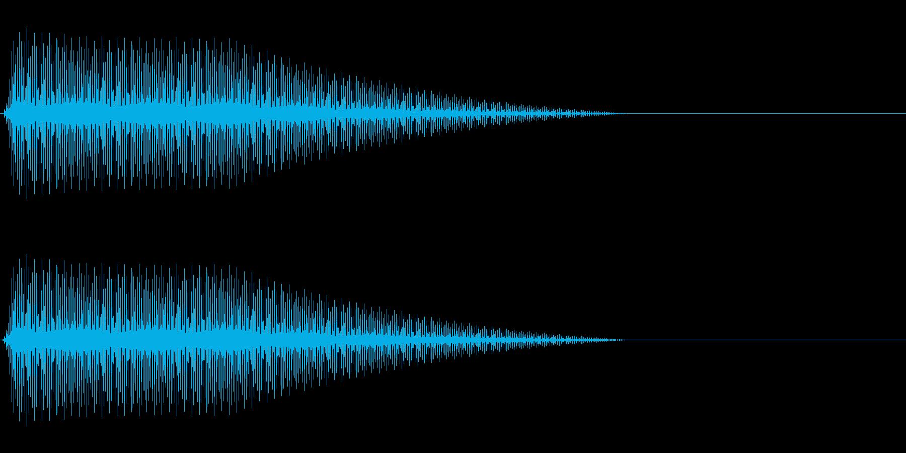 OctaveCom アプリ用タッチ音7の再生済みの波形