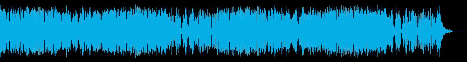 サバンナを感じさせる民族音楽風楽曲の再生済みの波形