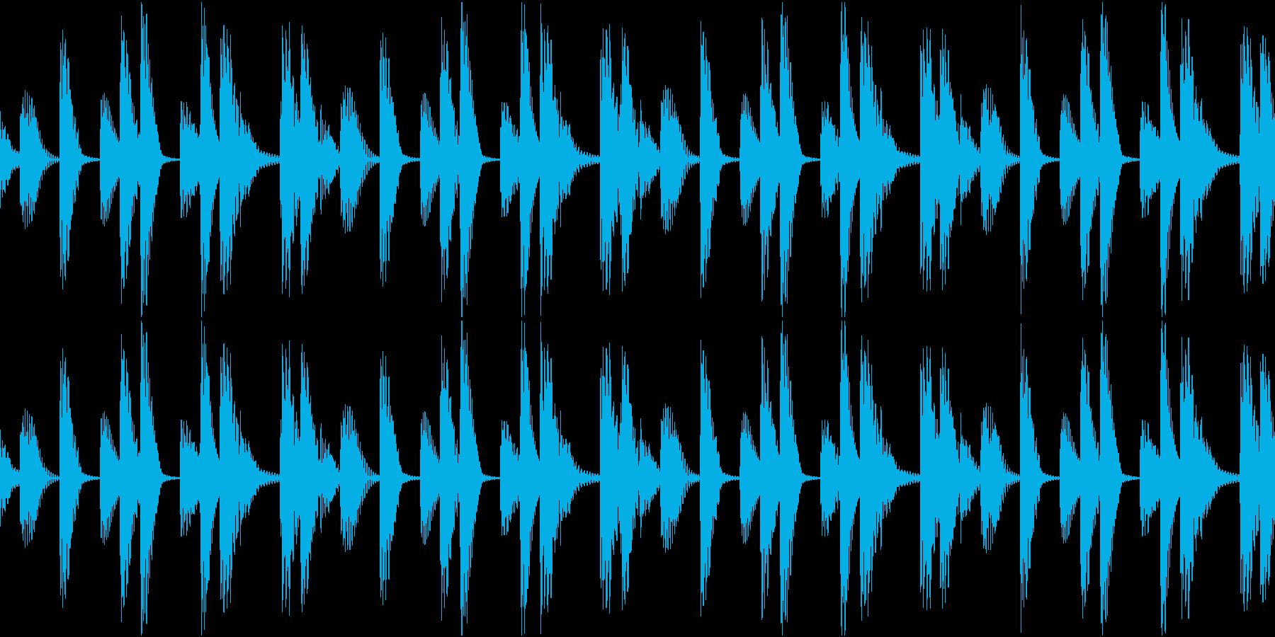 Techno ベース 2 音楽制作用の再生済みの波形