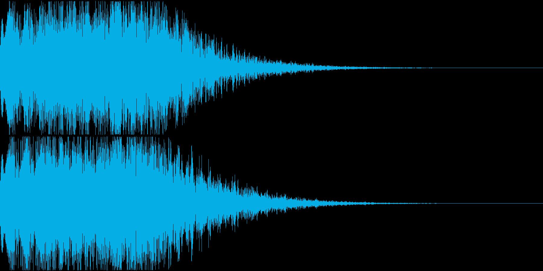 キュイン ギュイーン シャキーン 09の再生済みの波形