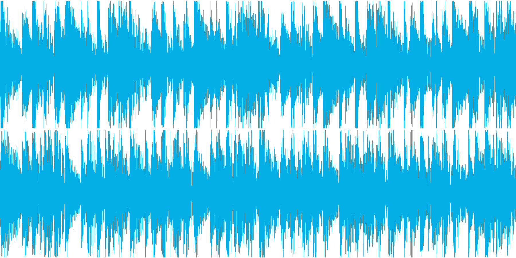BGM08 アフリカン 8秒ループの再生済みの波形