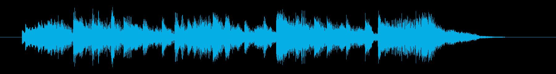 ゆったり和風なシンセサウンドの再生済みの波形