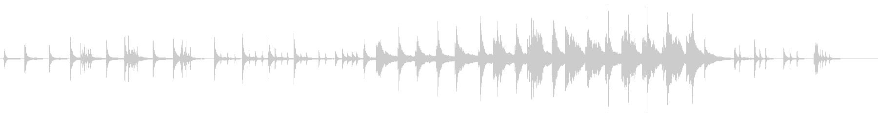 静かに 星降る夜 虫蠢く ■ ピアノソロの未再生の波形