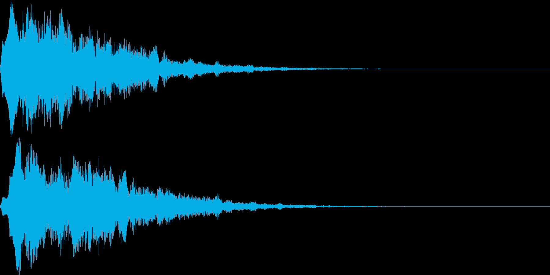 サウンドロゴ15(シンセ系)の再生済みの波形