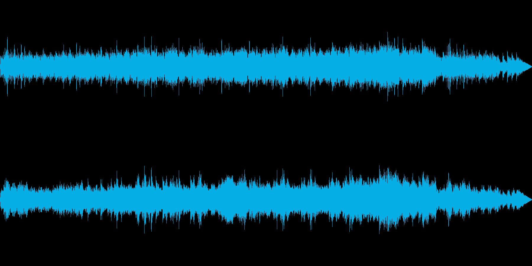 ハープで水属性の曲の再生済みの波形