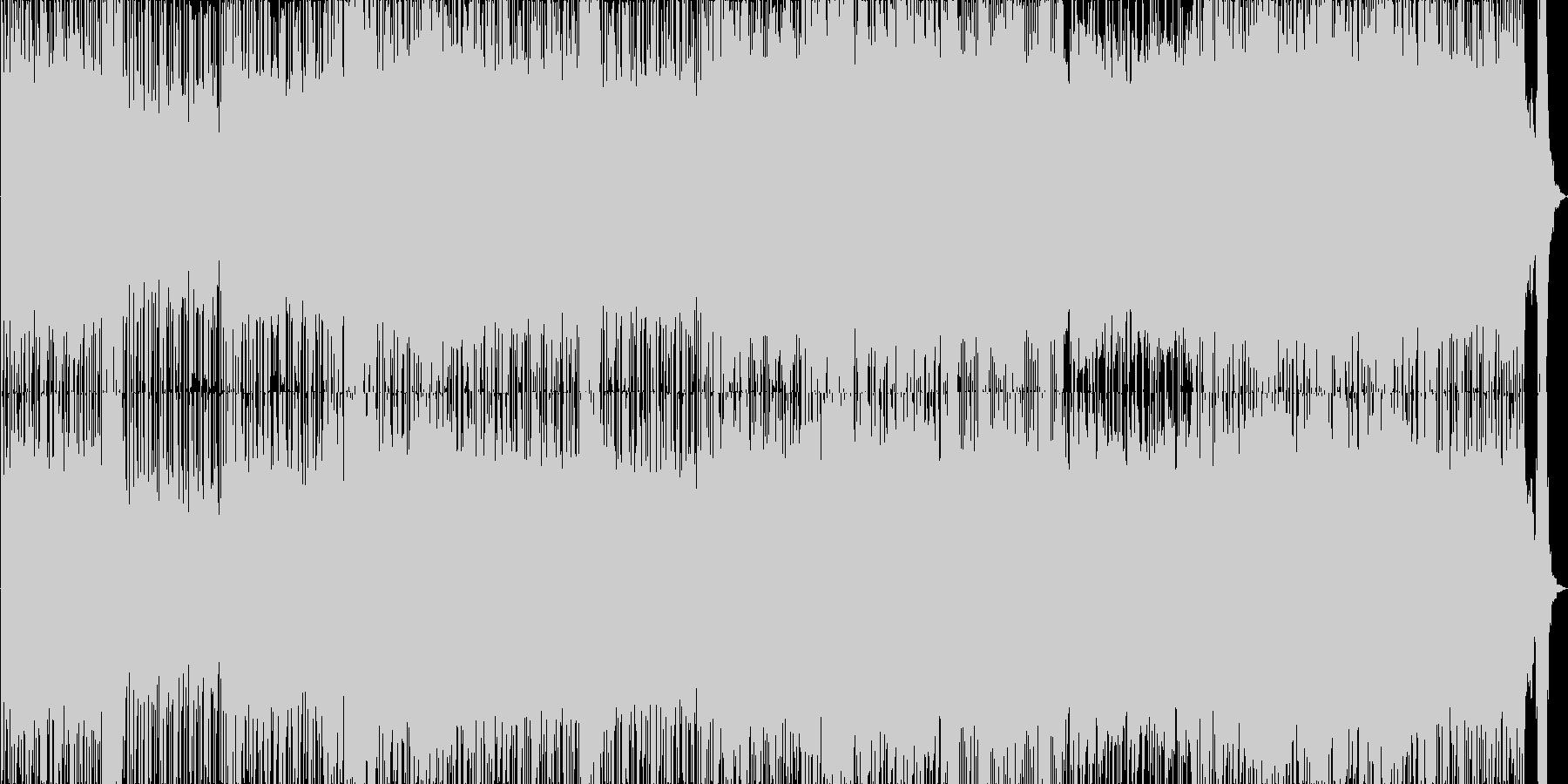 バンド風の打ち込みロックの未再生の波形
