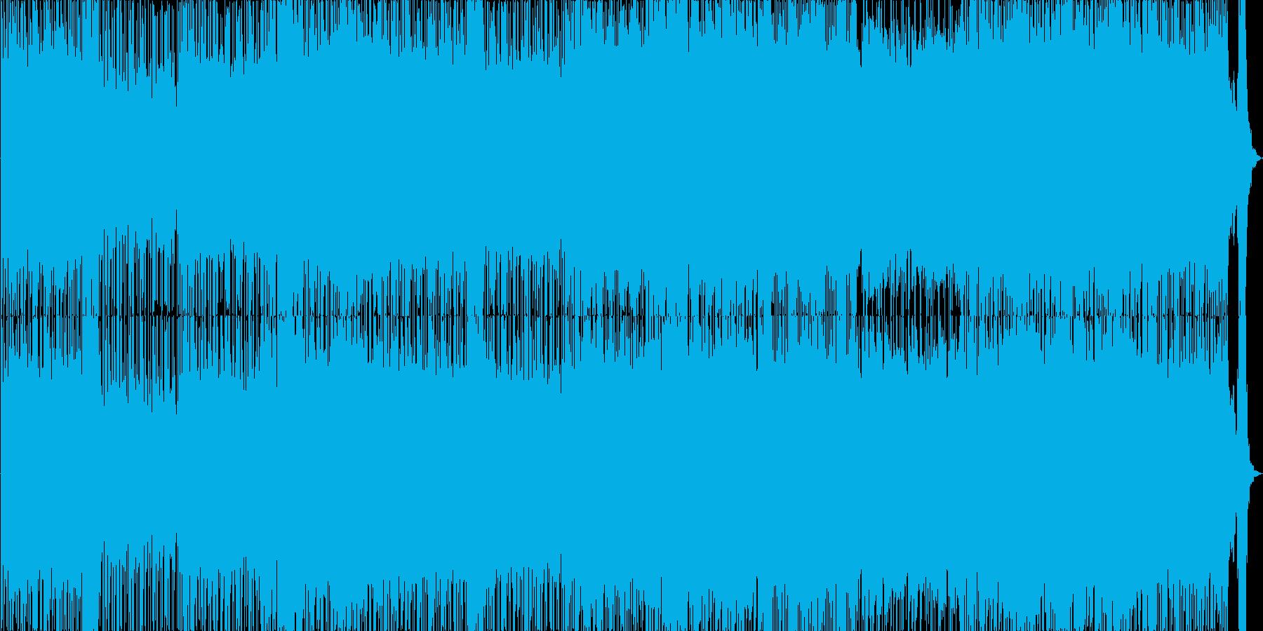 バンド風の打ち込みロックの再生済みの波形