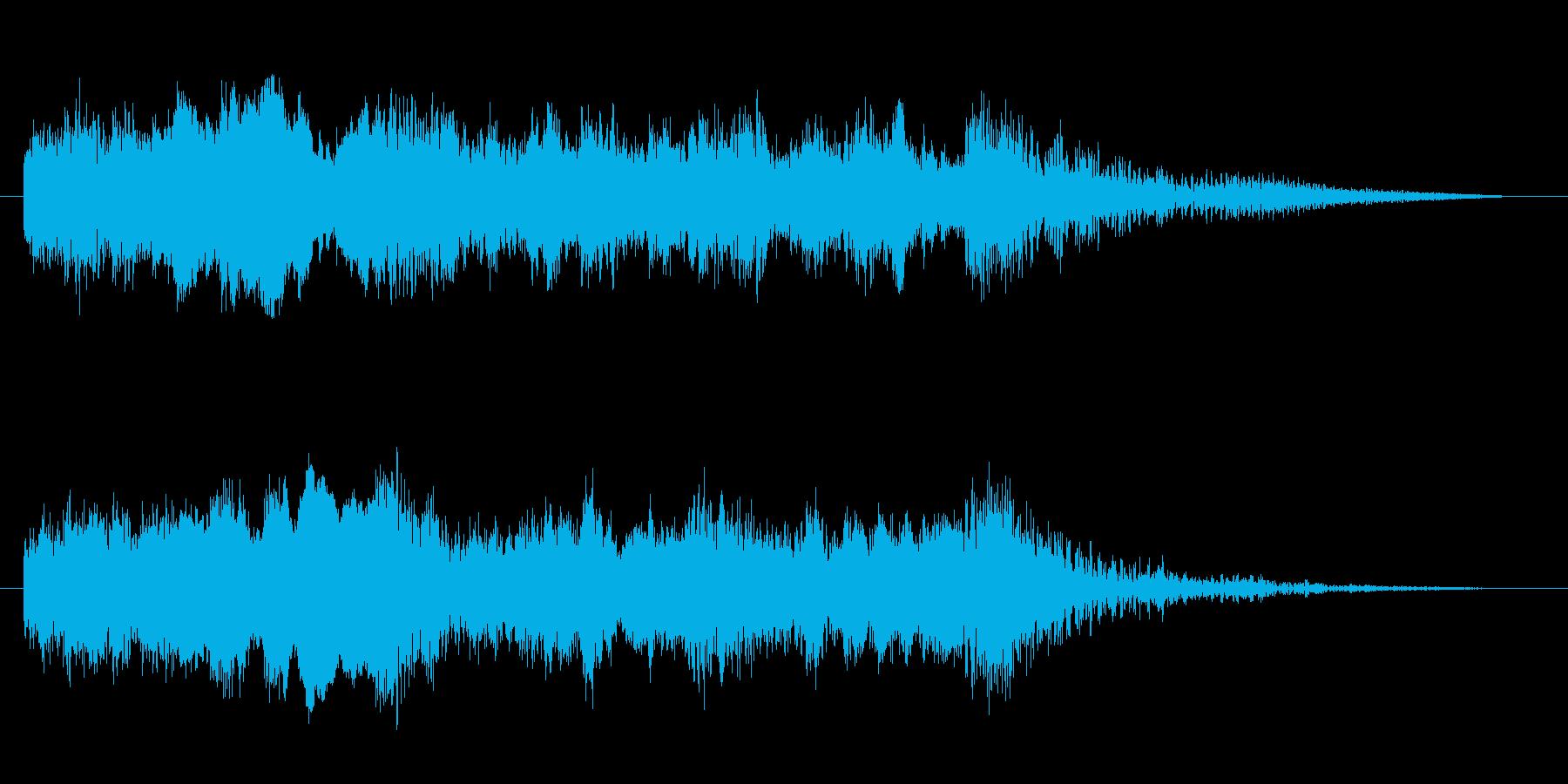 コーナータイトル_ターミネーター風の再生済みの波形