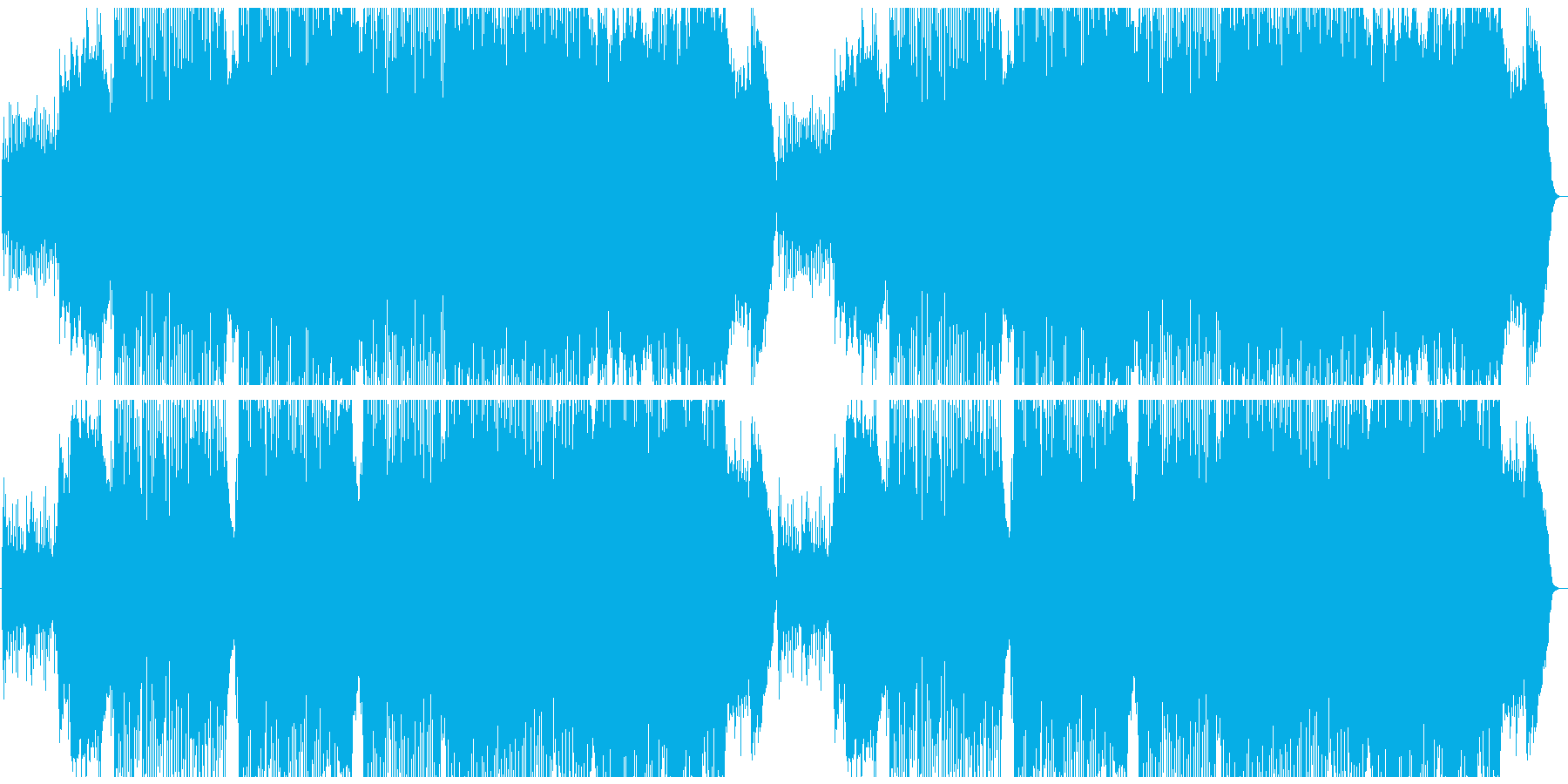 賑やかなオリエンタル曲の再生済みの波形