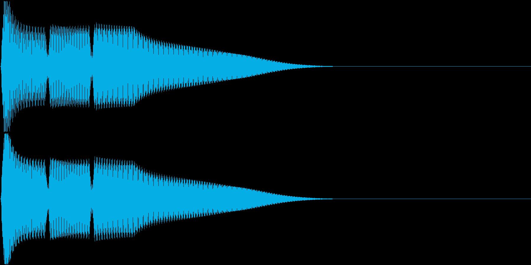 テレレー(電子小決定音)の再生済みの波形