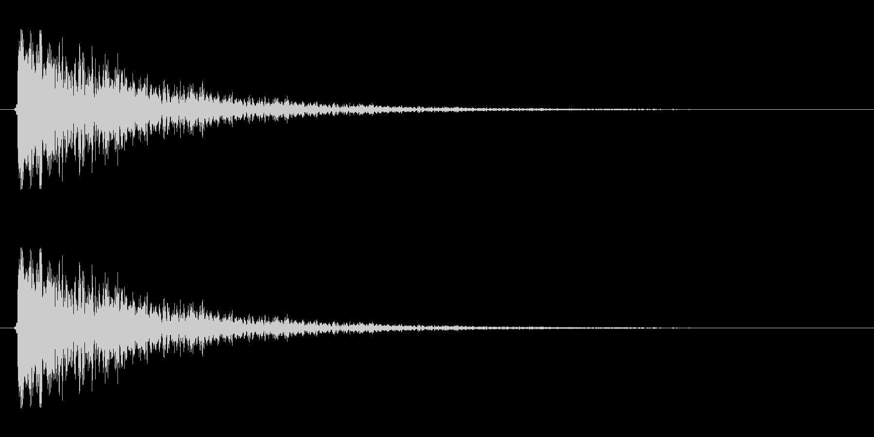 【衝撃05-2】の未再生の波形