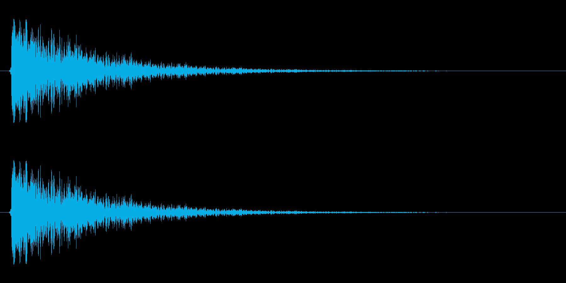 【衝撃05-2】の再生済みの波形