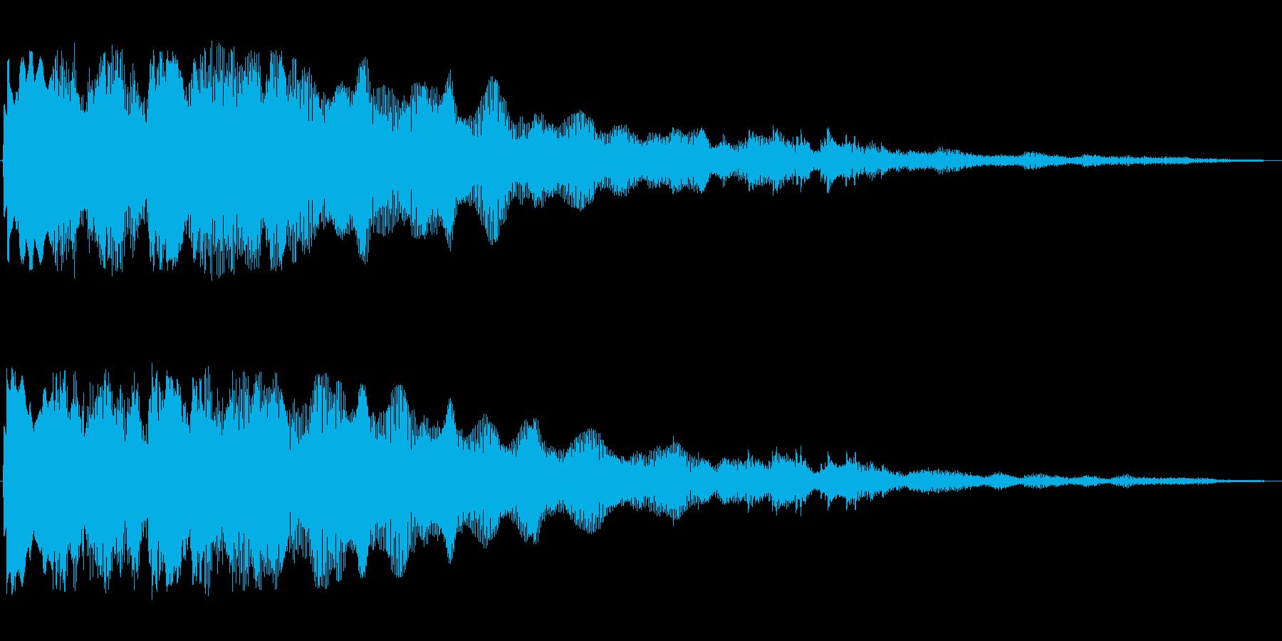 少し暗めなオープニング音の再生済みの波形