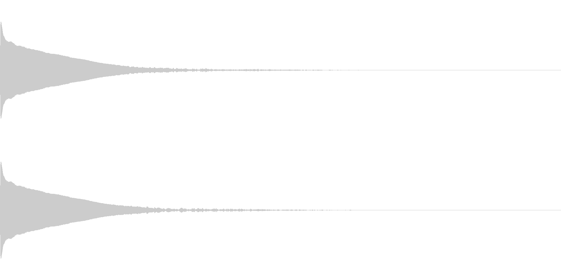 ひゅ〜ん(深い落下音)の未再生の波形