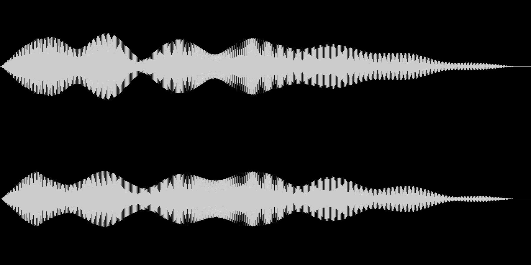 シンプルなキャンセル音4の未再生の波形