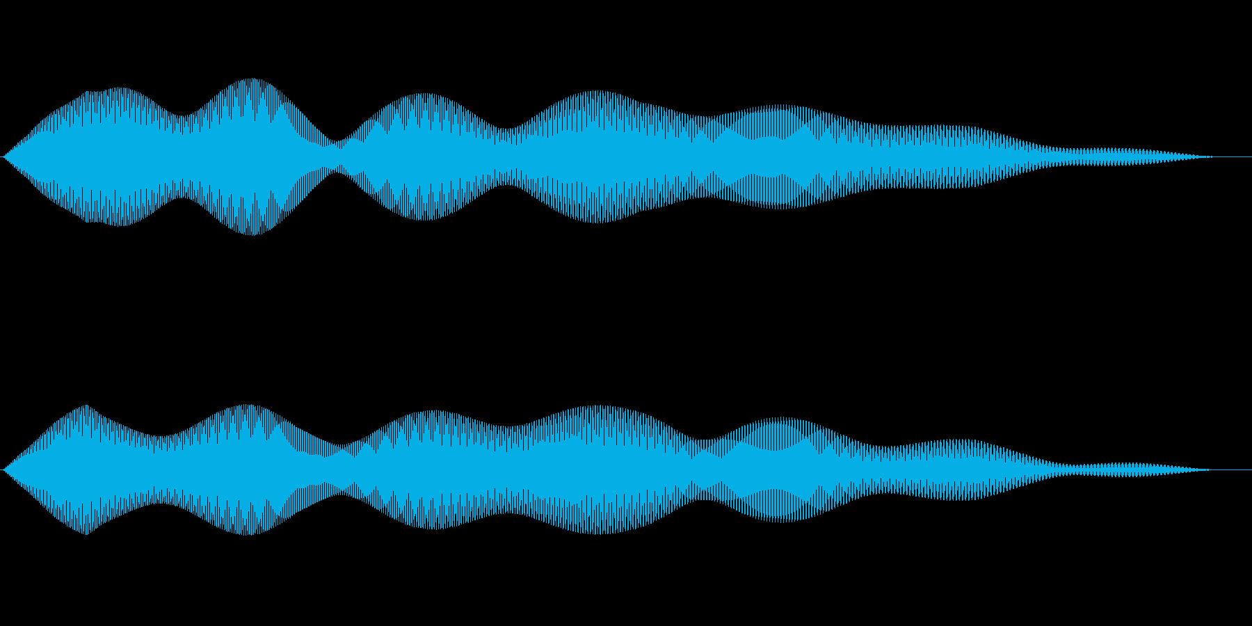 シンプルなキャンセル音4の再生済みの波形