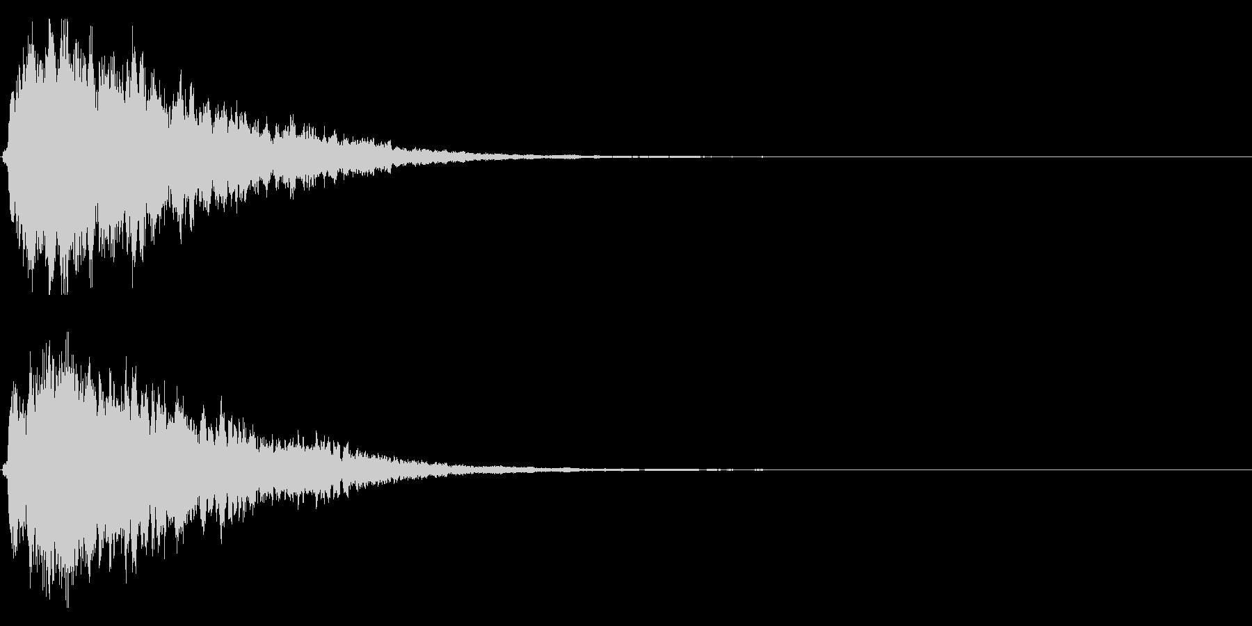 キラキラ輝く テロップ音 ボタン音!3cの未再生の波形