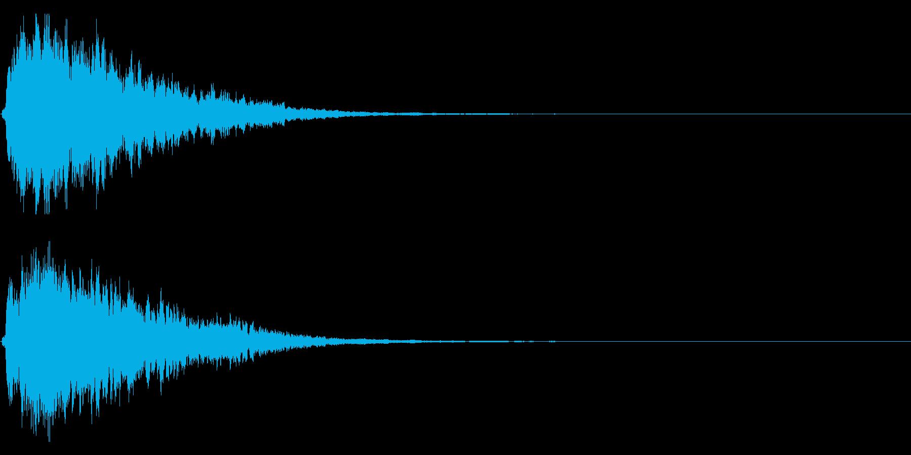キラキラ輝く テロップ音 ボタン音!3cの再生済みの波形