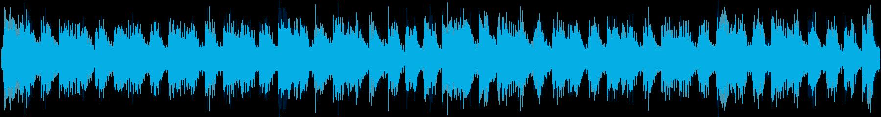淡々と繰り返されるシンセサイザーのルー…の再生済みの波形