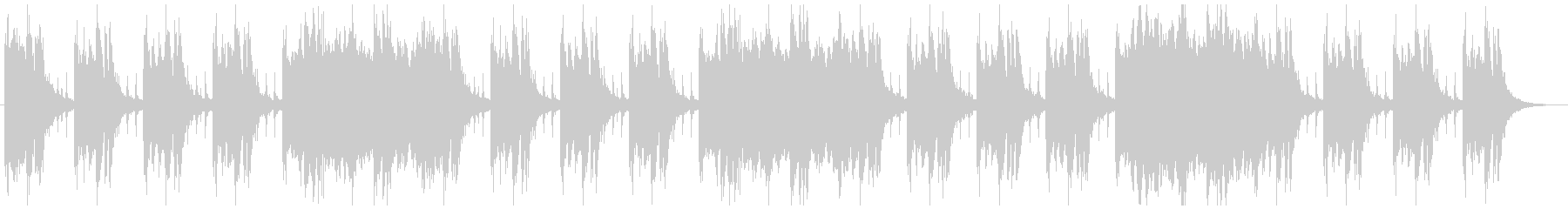 シネマチックな闇をイメージ 1分半BGMの未再生の波形