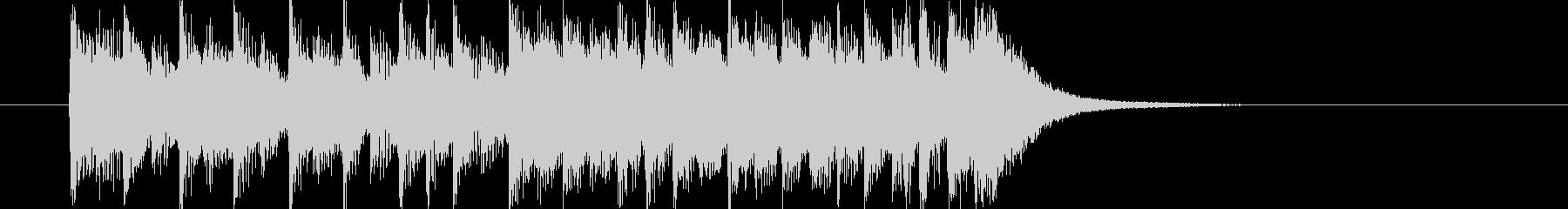 打楽器と吹奏楽による短い演出の未再生の波形
