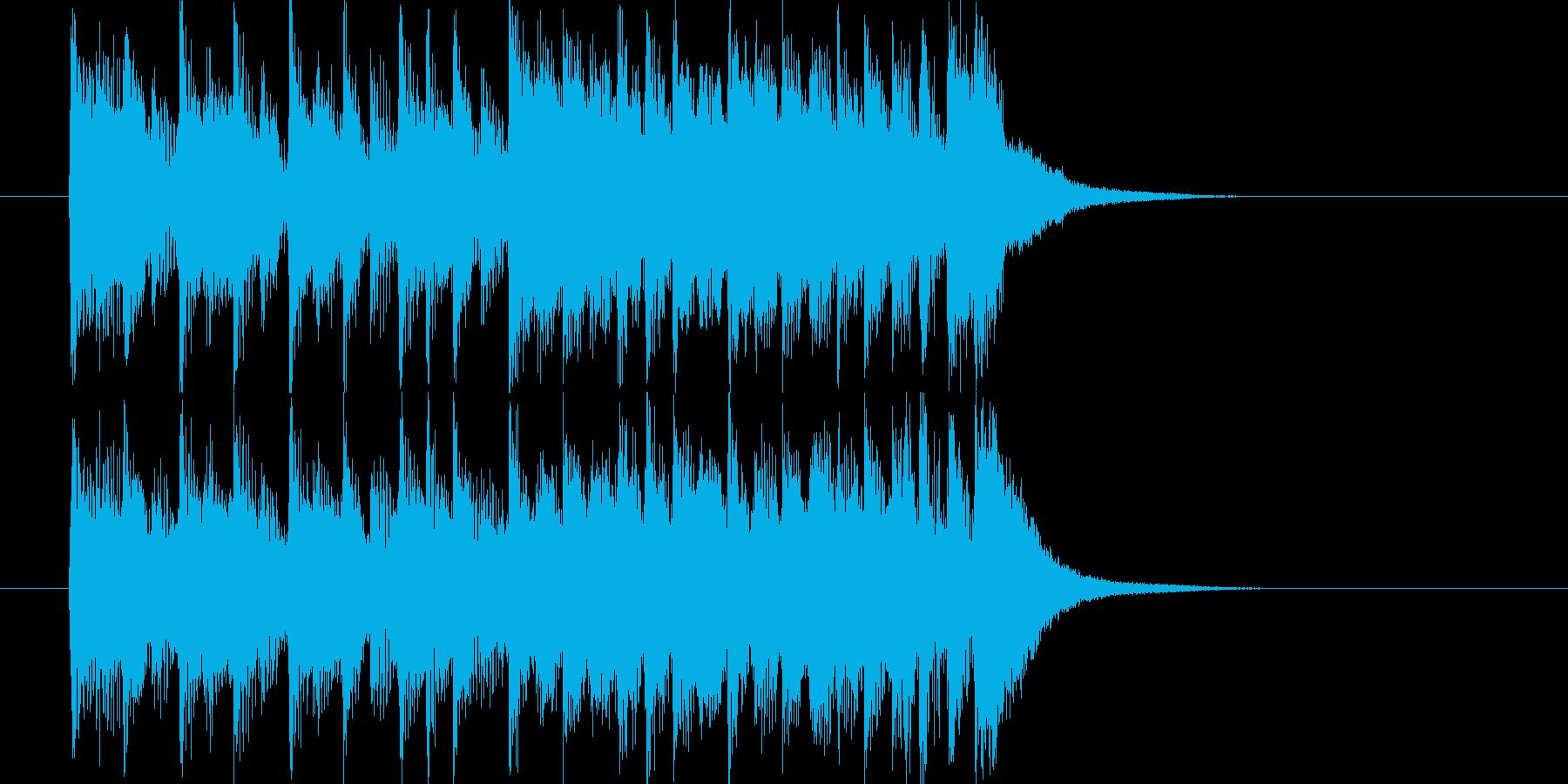 打楽器と吹奏楽による短い演出の再生済みの波形