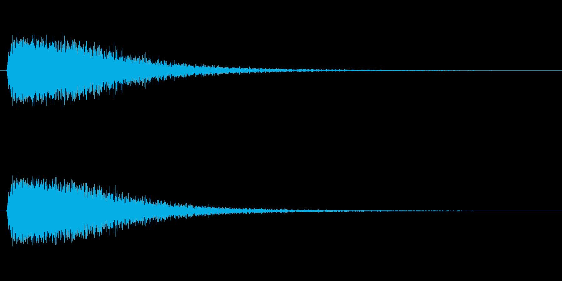 風の塊のような風魔法のSEの再生済みの波形