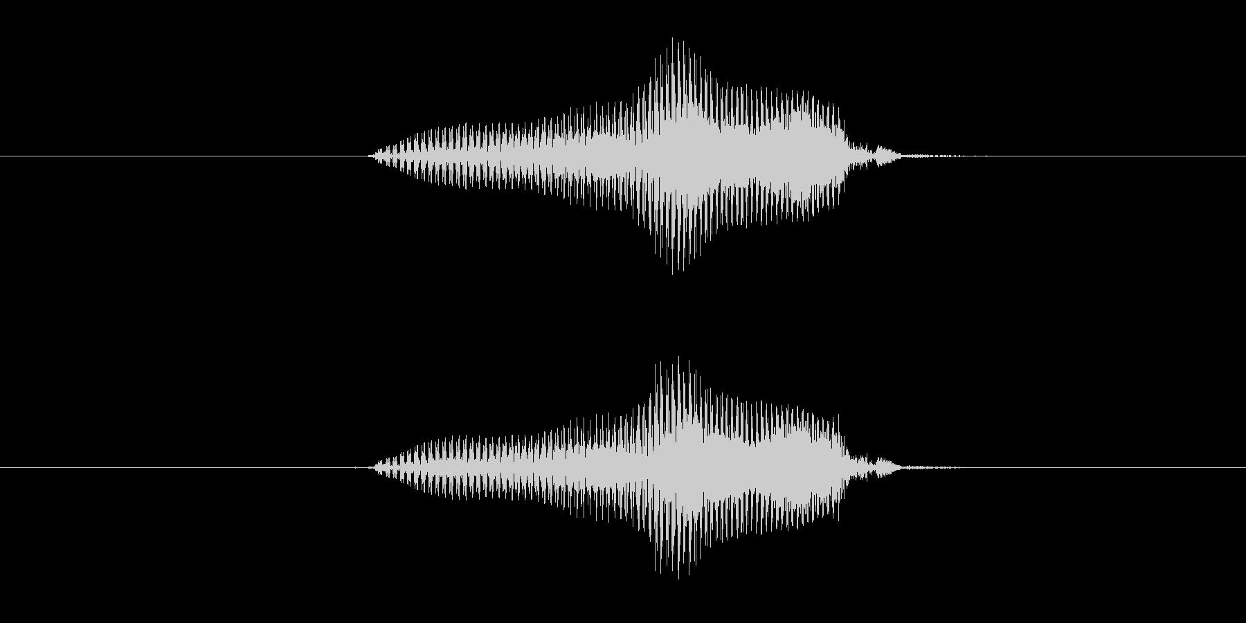 上の未再生の波形